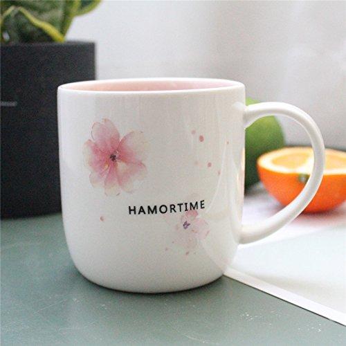Kühlschrank Reise Mädchen (Guokesakura Keramik mit der schönen Mädchen Herz bereitwillig Kaffee Tassen (300 ml) 8,5 * cm geschrumpft Sakura)