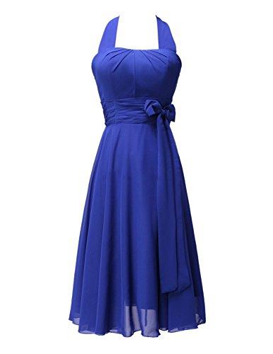 CoCogirls - Robe - Trapèze - Femme bleu roi