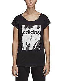 adidas Originals Essentials Season All Over Print T-Shirt Damen schwarz weiß,  M a8944bf4f6