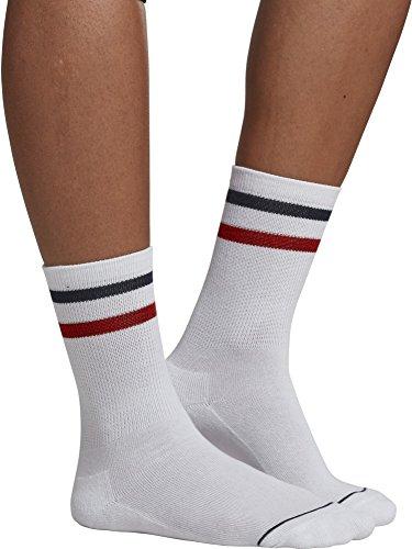 Preisvergleich Produktbild Urban Classics Herren 3-Tone College Socks 2 Pack,  Mehrfarbig (White / Navy / Red 01249)