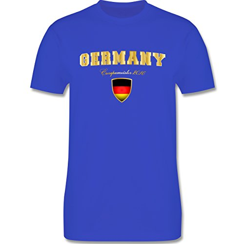 EM 2016 - Frankreich - Germany Europameister 2016 - Herren Premium T-Shirt Royalblau