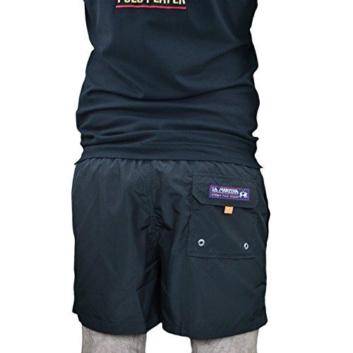 La Martina Herren Badehose Man Swimwear Nylon Schwarz (Black 9999)