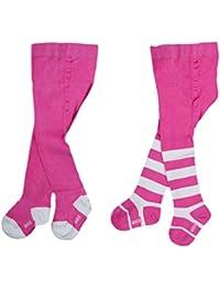 Babystrumpfhose für Mädchen Komfort Standard Baumwolle RA-25W 2 er Set pink Gr. 56/62