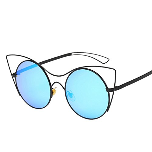 Toamen Women Men Vintage Retro Glasses Unisex Fashion Aviator Mirror Lens Sunglasses