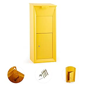 empresas paqueteria: Waldbeck Postbutler Buzón de paquetería (puerta con cerrojo, fijación al suelo,e...