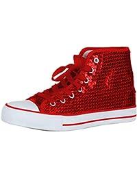 7a8207eeaf9df Suchergebnis auf Amazon.de für: pailletten schuhe - Rot / Sneaker ...
