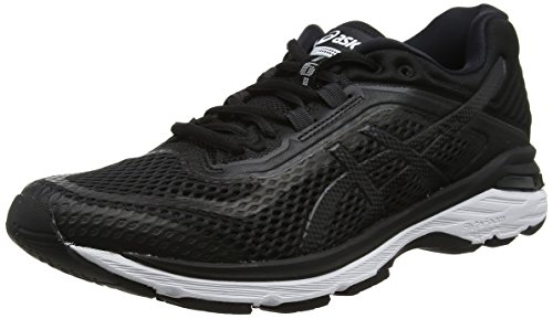 ASICS GT-2000 6, Scarpe Running Donna, Nero (Black/White/Carbon 9001), 39.5 EU