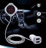 Transmetteur FM MP3 mains libres Bluetooth double voiture Chargeur de téléphone...