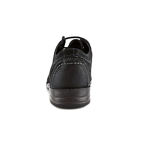 Clarks Delsin Aumento Oxford scarpe Black Leather