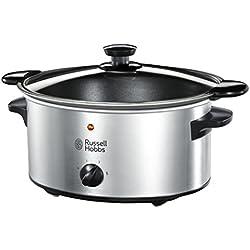 Russell Hobbs Cook & Home 22740-56 - Olla cocción lenta, 3,5 l de capacidad, acero inoxidable