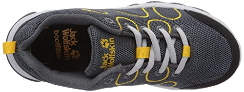 Jack Wolfskin Fairport Low K, Baskets Basses mixte enfant Gris - Grau (burly yellow 3800)