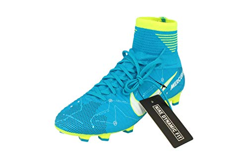 Nike Junior Mercurial Superfly V DF NJR FG Football Boots 921483 Soccer Cleats (UK 3.5 us 4Y EU 36, Blue Orbit White 400) -
