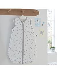Silentnight Safe Nights 2.5 Tog Baby Sleep Bag, 0-6 Months, Grey Stars