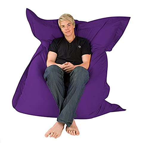 Hi-BagZ® Giant 4-Way Bean Bag Floor Cushion – Extra Large BeanBag Lounger Seat – XL Bean Bags for Indoor / Outdoor Use – 100% Water Resistant and Weather Proof –