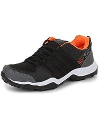 TRASE SRV Parker Black Orange/Grey Green Men Sports Running Shoes