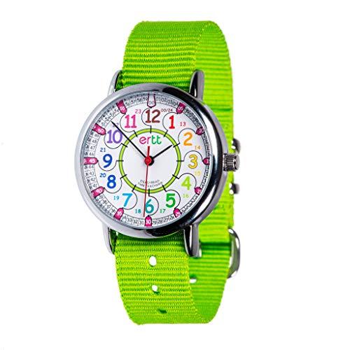 EasyRead time teacher ERW-COL-24 Armbanduhr mit Regenbogen-Zifferblatt, 24 Stunden, lime, 1