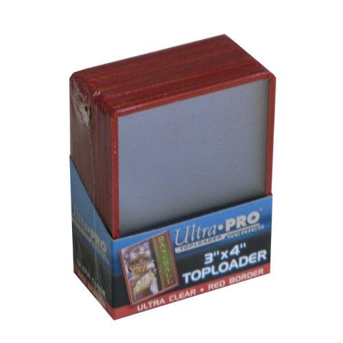 25 Ultra Pro Toploader Red Border - Regular Size 3 x 4