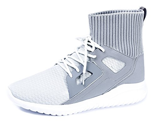 AgeeMi Shoes Herren Rund Schließen Zehe Sneaker Freizeit Schnürer Turnschuhe,EuN07 Grau 44