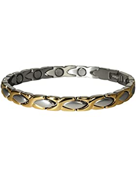 Yinga-Vital Klassisch geschwungenes Magnetschmuck Damenarmband im Stil Bicolor