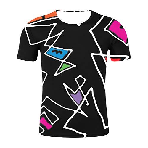 ODRD Hot Jugend Herren T-Shirt Frühling Sommer 2019 neueste Sommermode Druck Kurzarm-T-Shirt Herren Mehrfarbig T-Shirt Lässiges Weste Vest...