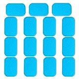 iRoundy EMS Gel Pad, Abs elektrischer Muskelstimulation Training Gear Massage Gerät Ersatz Gel Tabelle Zubehör 30 Stücke, passen zu allen EMS Trainingsgerät (2 Stück/Beutel, 15Beutels/Schachtel)