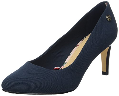 Tommy Hilfiger L1285isette 1d, Scarpe con Tacco Donna Blu (Midnight 403)