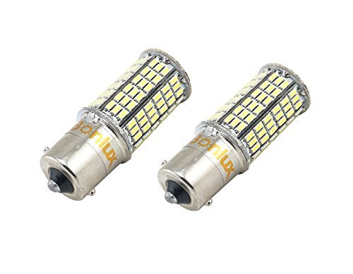 Bonlux 2-Pack 5W 1156 lampadina Ba15s unici a baionetta LED 10-30 Warm White 1156 1141 1003 1073 1093 Ba15s sostituzione LED per interni auto camper Camper Boat Yard Lighting