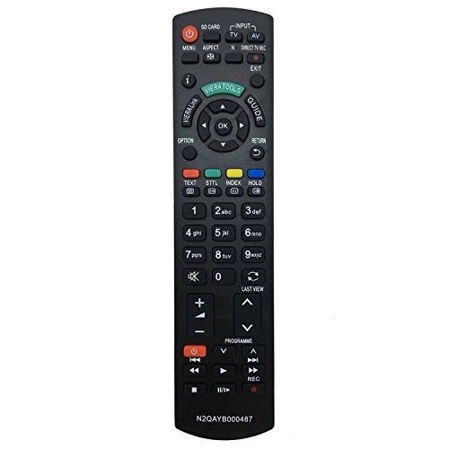 allimity reemplazo de control remoto N2QAYB000487 (para N2QAYB000354) Sub N2QAYB000239 aptos para Panasonic TX-TX-L32G20E L37G20E TX-TX-P42GW20 P42G20E TX-TX-L42G20E P46G20E TX-TX-PR50G20 P50G20E para Plasma, LED y televisores LCD