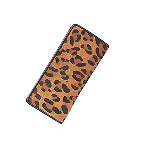 Lostryy Señora Larga Cartera de Gran Capacidad/Retro Hebilla de Lana 0 Cartera/Doka bit Pack/teléfono móvil Bolsa/Bolso/Bolsa de Almacenamiento, Leopardo de impresión