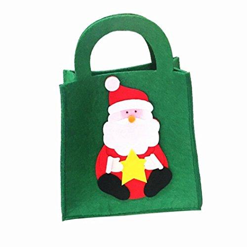 AMUSTER Mode Sacchetti Di Regalo Della Decorazione Del Partito Di Natale Borsetta Di Zucchero Dolce Della Caramella Xmas (A)