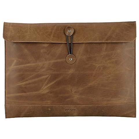 Echt Leder Hülle Tasche Microsoft Surface Pro 4 / 3 Dokumententasche DIN A4 / Notebooktasche für Ultrabooks 12