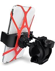 [2017 neue Version] Ipow Universal Fahrrad Handyhalterung Handy Halterung Halter für iPhone 8 7 Plus / 7 / 6s Plus / 6 / 5s / 5 / 4 & Samsung Galaxy S8 /S7 Edge / S6 Edge / S6 / S5 / S4 / S4 Mini / Note 3 / Note 4 / Note Edge LG Huawei usw.
