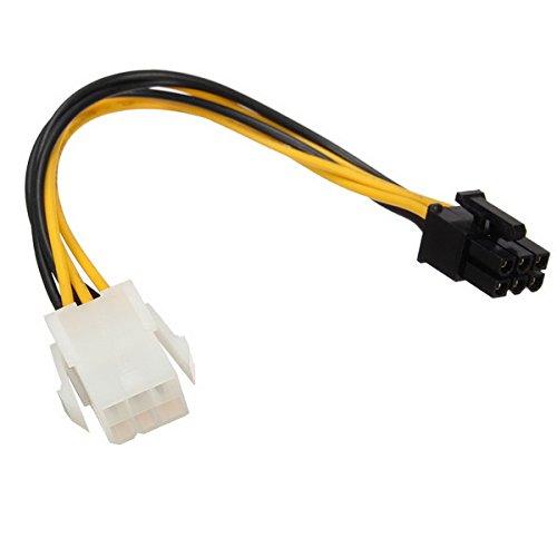 Tutoy Stromkabelverlängerung 6Pin Zu 6Pin PCie Energien-Kabel Für Videokarte