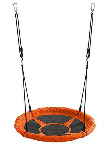 Izzy Nestschaukel 110 cm, Garten-Schaukel bis 150 kg belastbar, TÜV/GS (orange)