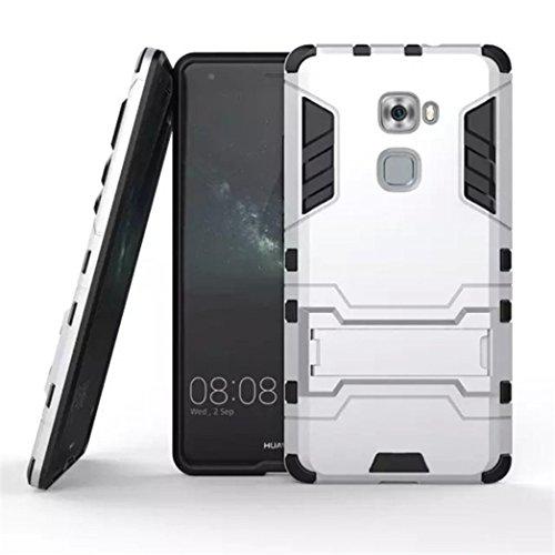 Apanphy Huawei Mate S Hülle , Dual Layer Kratzfeste Tasche Schutzhülle mit Ständer für Huawei Mate S case cover, Silber