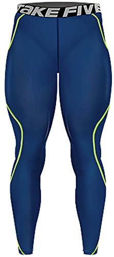 New-209-Navy-Skin-Compression-Tights-Base-Layer-Running-Pants-Men-Sporting-Goods-Running-Gear-Sports-Apparel-Uv-Protective-Performance-Base-Layer-Cycling-Apparel-Health-Fitness-Crossfit-Clothing-For-M