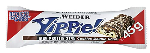 Weider Yippie! 12 x 45g Riegel, Cookies-Double Choc  | 6 Schokoladenschichten