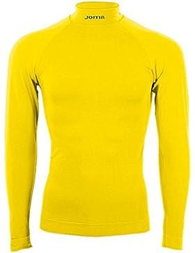 Joma Brama Classic - Camiseta térmica de manga larga para niños de 8-10 años, color amarillo flúor