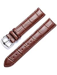 Correa de repuesto para reloj de BINLUN, piel auténtica (12mm, 14mm, 16mm, 17mm, 18mm, 19mm, 20mm, 21mm, 22mm, 23 mm, 24mm)
