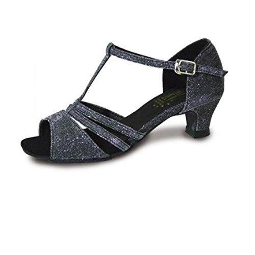 Roch Valley Evie Ladies Ballroom Shoe Black/Silver 7L UK / 41 EU