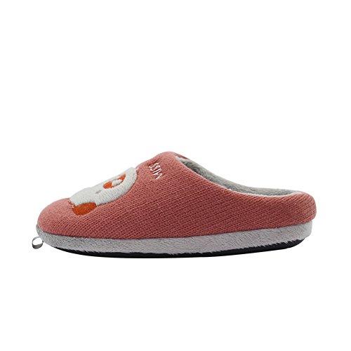 Kenroll Unisex-Kinder Warme Schuhe Hausschuhe - Jungen und Mädchen Brick Red