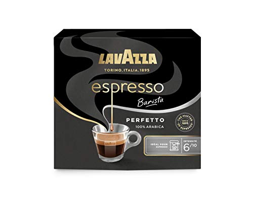 Lavazza Perfetto Espresso Café moulu Intensité 6 100% Arabica - 2 paquets de 250 g - lot de 2 (1kg)