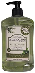 A La Maison de Provence Liquid Soap, Rosemary Mint, 16.9-Ounce Bottles (Pack of 3)