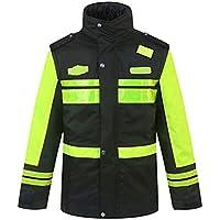 RAINCOAT Fahrradanzug- Reflektierender Baumwollmantel, Straßenverkehr Reflektierende Manteljacke Männlich Highway Safety Fluorescent Dicker Baumwollmantel -Regenmantel (größe : XXXL)