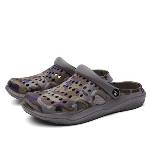 Zapatos de Mujer Zuecos de jardín Cierre de Dedo del pie Slip on Ankle Strap Sandalias Antideslizantes Transpirables Respirables