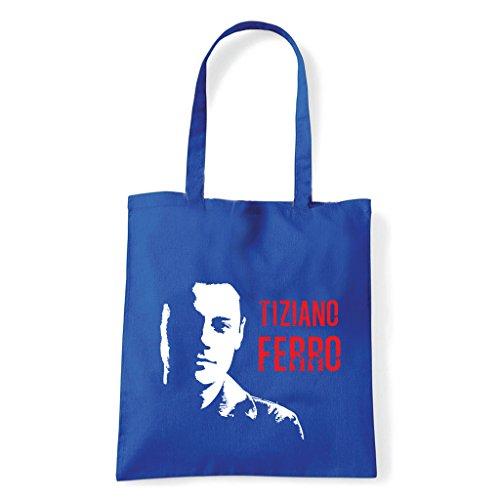 Art T-shirt, Borsa Shoulder Tiziano Ferro Blu