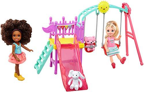 Barbie FTF93 - Chelsea Outdoor Spielset mit zwei Puppen und Tierfreunde, Puppen und Puppenzubehör ab 3 Jahren