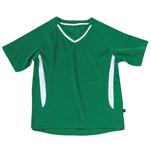 JAMES & NICHOLSON Funktionelles Teamshirt für Kinder Green/White