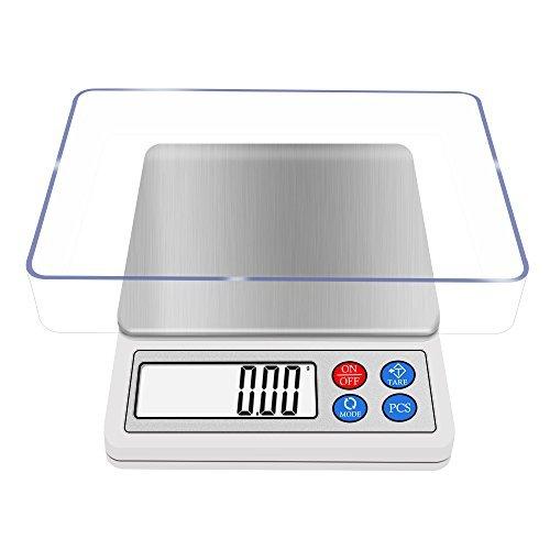 Digital Küche und Lebensmittel Skala 600g 0,01g, next-shine Hochpräzise Pocket Mensur, multi-functionals Pro Ebene, mit LCD-Display, Tara, PCs, mit (Amazon Lebensmittel-skala)