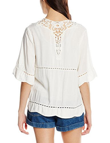 Vila Damen T-Shirt Vijenal Coverup Elfenbein (Pristine)